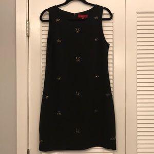 Saks 5th Ave Black Beaded Shift Dress